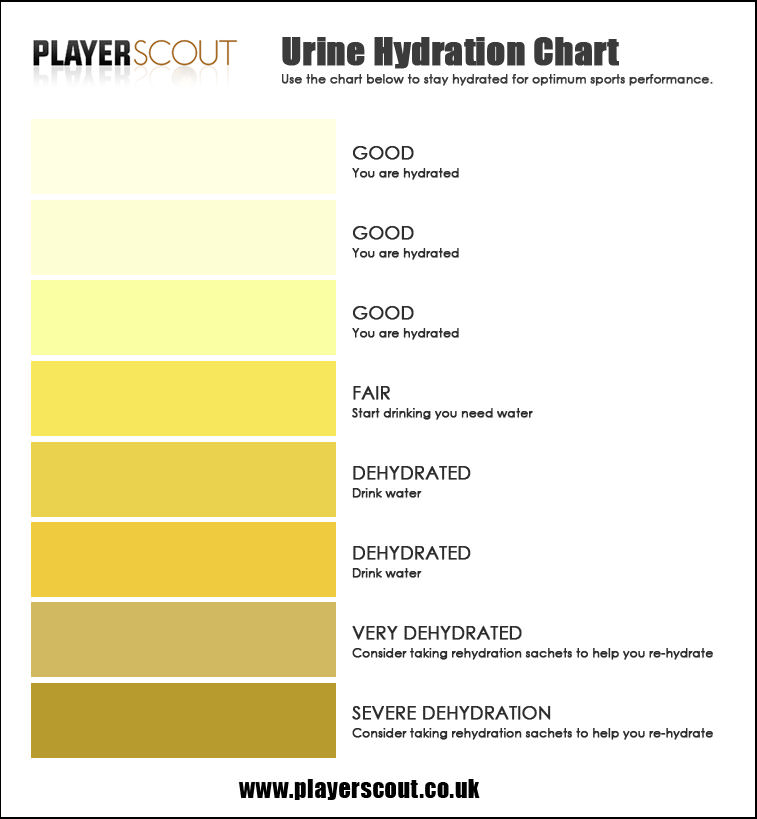 Urine Colour Chart The Best Way To Monitor Your Hydration Levels